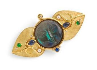 Antique STEPHEN WEBSTER MOONFACE BROOCH