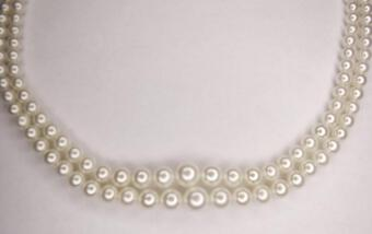 Antique CLASSIC TWIN ROW PEARL NECKLACE