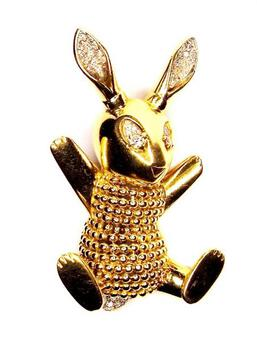 Antique BOUCHERON BUNNY BROOCH