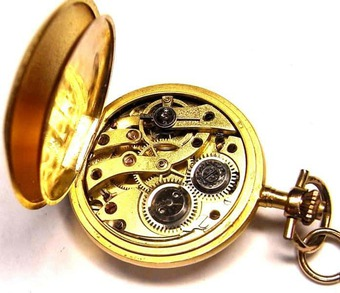 Antique LADY'S HUNTER FOB WATCH
