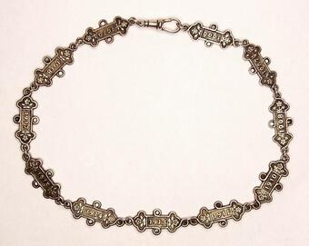 Antique INTRIGUING SILVER WATCH-CHAIN