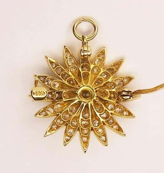Antique DIAMOND STAR PENDANT/BROOCH