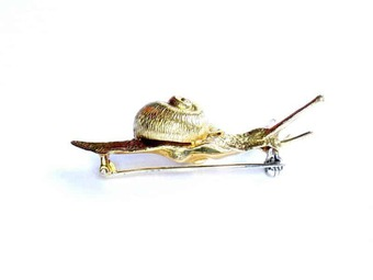 Antique ITALIAN SNAIL BROOCH