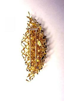 Antique George Weil 1960s leaf brooch