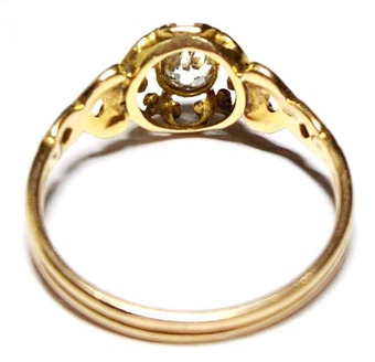 Antique 19th c. diamond and gold ring N637A