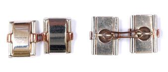 Antique PLATINUM AND GOLD CUFF-LINKS