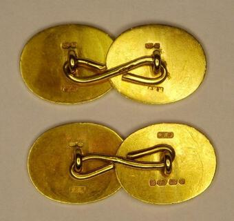 Antique ASSYRIAN REVIVAL CUFF-LINKS