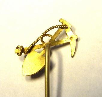 Antique GOLD-DIGGERS LAPEL PIN