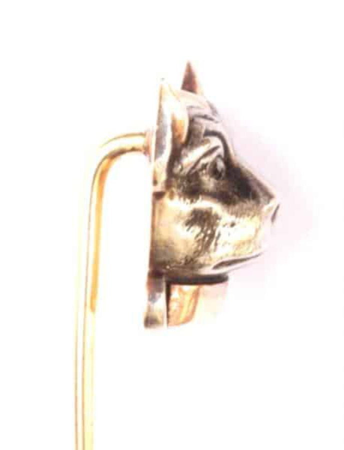 Antique LAPEL PIN - PUG OR BOSTON TERRIER
