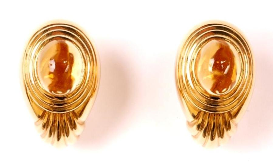 BOUCHERON CITRINE EARCLIPS