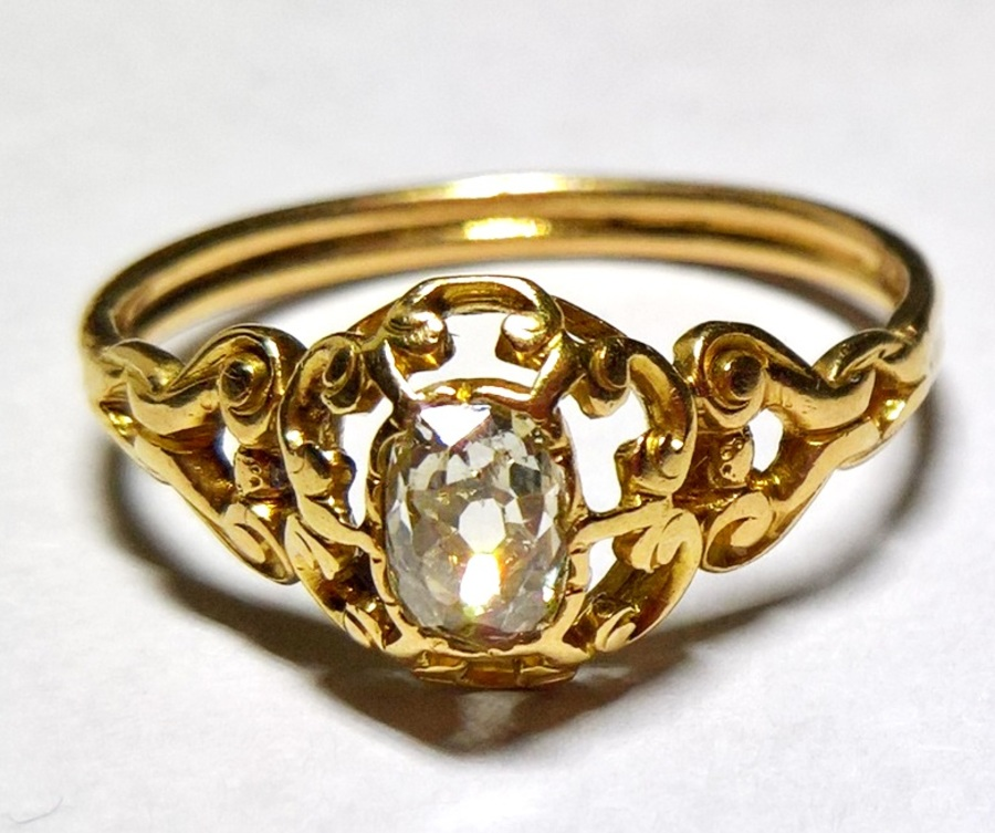 19th c. diamond and gold ring N637A
