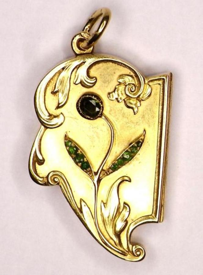 RUSSIAN ART NOUVEAU PENDANT LOCKET