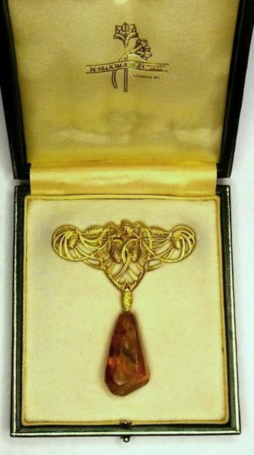 Antique ART NOUVEAU PINE-CONE BROOCH