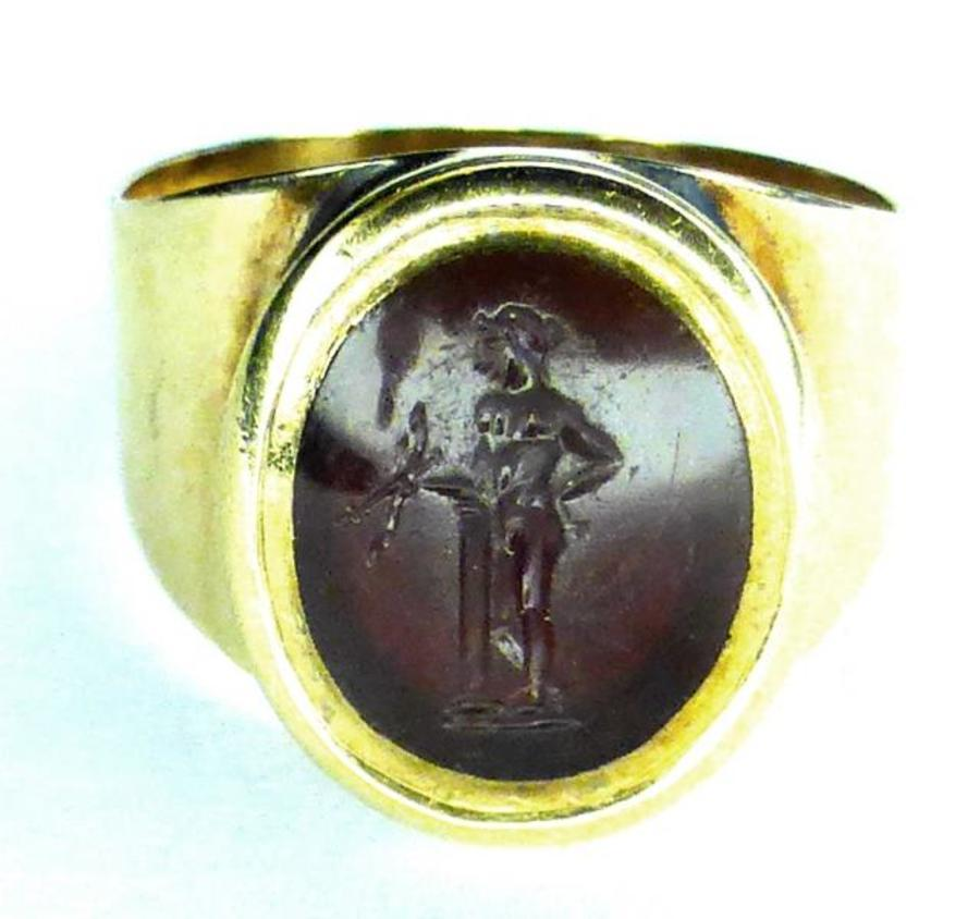 GEORGIAN GOLD INTAGLIO RING