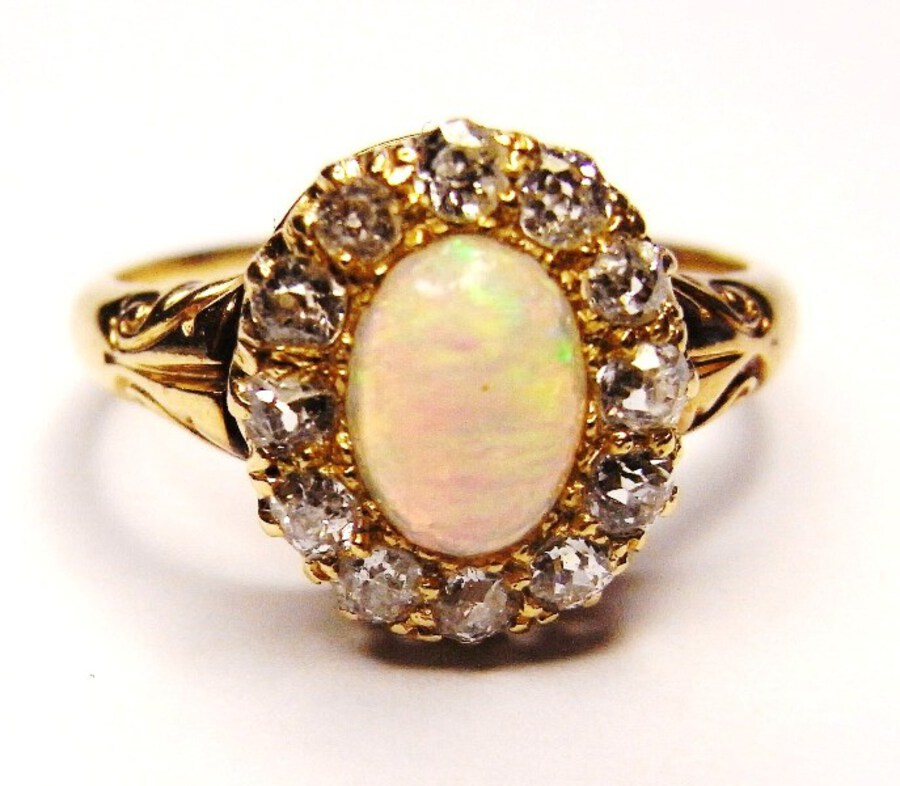 OPAL AND DIAMOND RING N290A