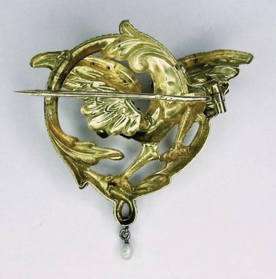 Antique FRENCH DRAGON BROOCH