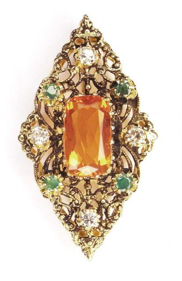 FIRE-OPAL BROOCH