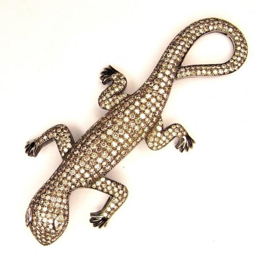 DIAMOND LIZARD BROOCH