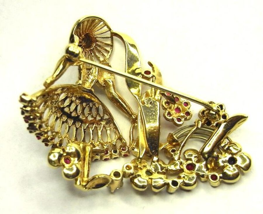 Antique FLOWER-GIRL BROOCH