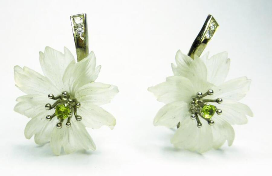 AUSTRIAN ROCK-CRYSTAL EARRINGS