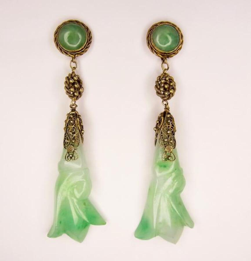 JADE LONG DROP EARRINGS