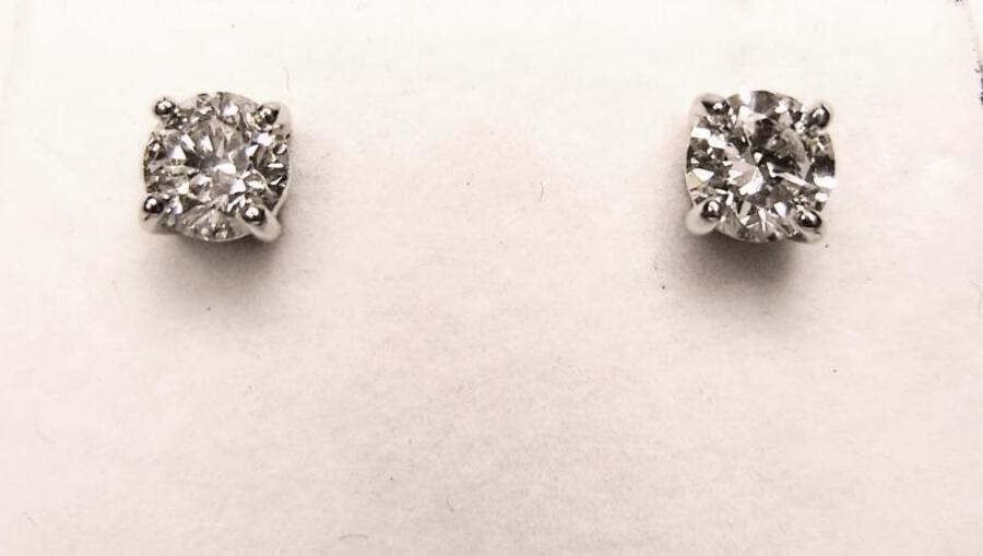 Antique DIAMOND EAR STUDS