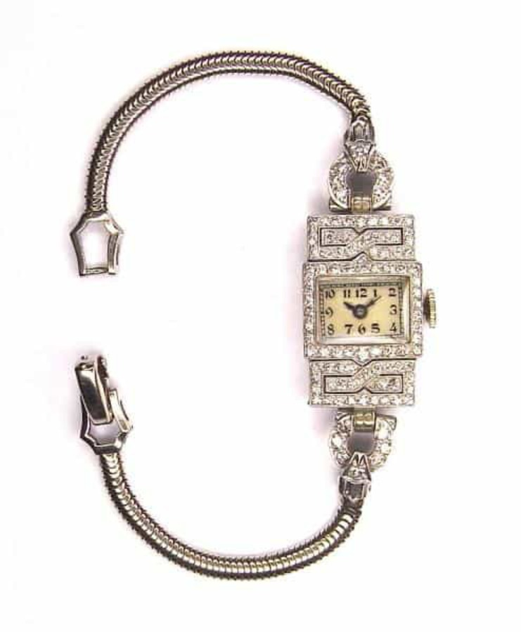 Antique DIAMOND COCKTAIL WATCH BY THEODORE B.STARR