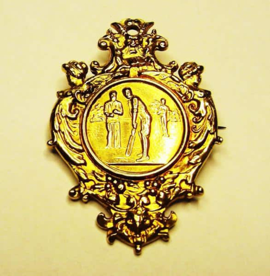 Antique CRICKET 'LONG SERVICE' MEDALLION