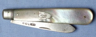 Antique Antique Silver Hallmarked Fruit Knife