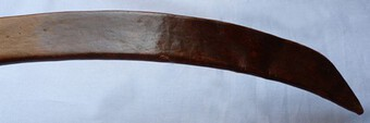 Antique Vintage African Curved Leather Sword Scabbard