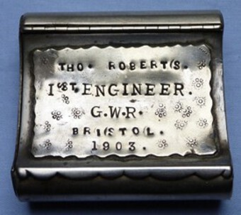 Dated 1903 and Named Great Western Railways Engineer's Cigarette Box