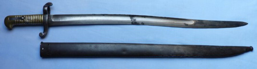 Rare French Model 1842 Sabre Bayonet – German-made American Civil War Import