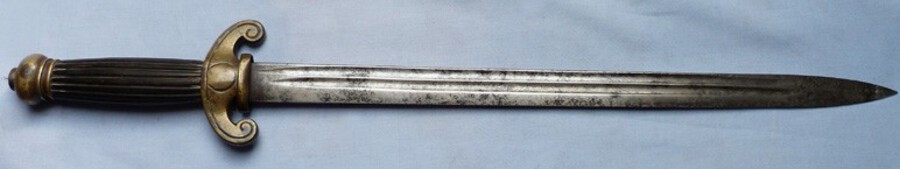 French C.1800's Naval Style Officer's Dirk Short Sword