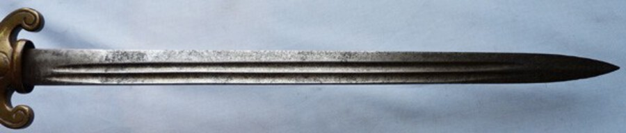 Antique French C.1800's Naval Style Officer's Dirk Short Sword