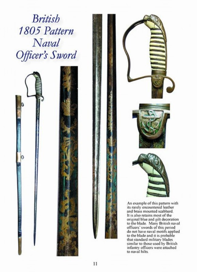 Antique British Napoleonic Naval Officers' Swords and British 18th & 19th Century Naval Cutlasses - Full Colour Sword Booklets for Collectors