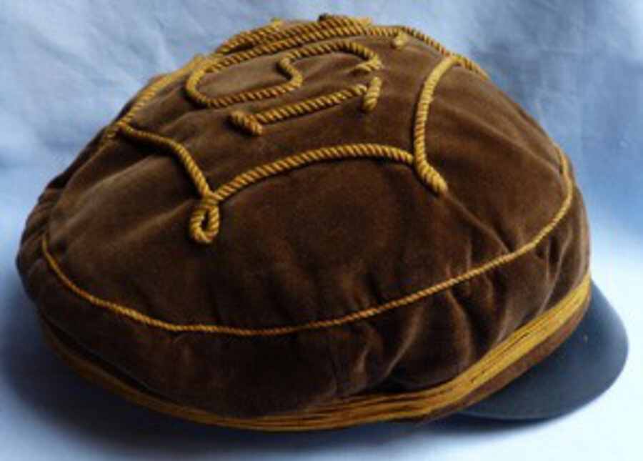 Antique Imperial German Military/Duelling Society Soft Peaked Cap