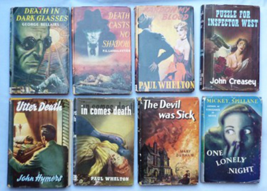 Collection of C.1950's Murder Mystery Pulp Fiction Books – Period Artwork