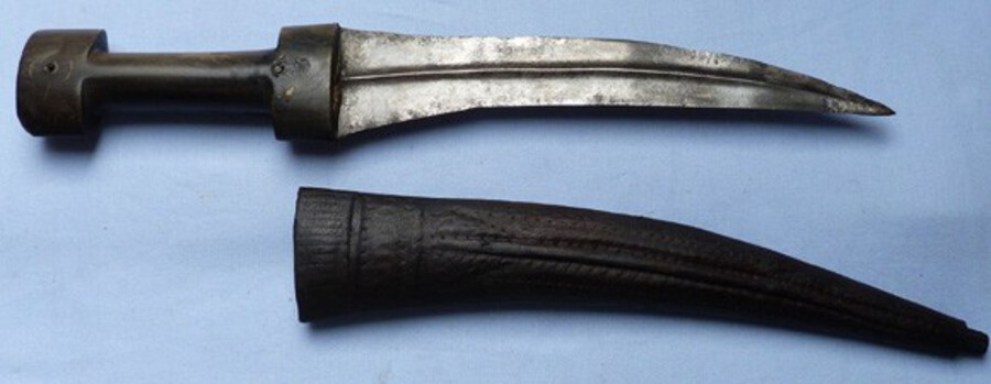 C.1900's Turkish Khanjar Dagger and Scabbard #2