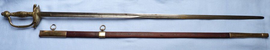 19th Century European Smallsword and Scabbard