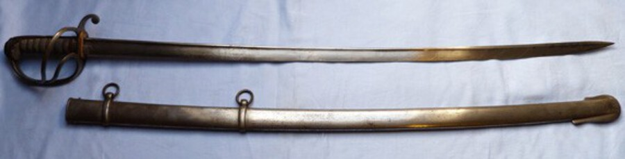Original British Early Victorian 1821 Pattern Light Cavalry Officer's Sword