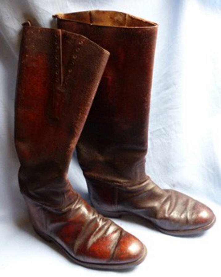 WW1 French Army Leather Service Boots