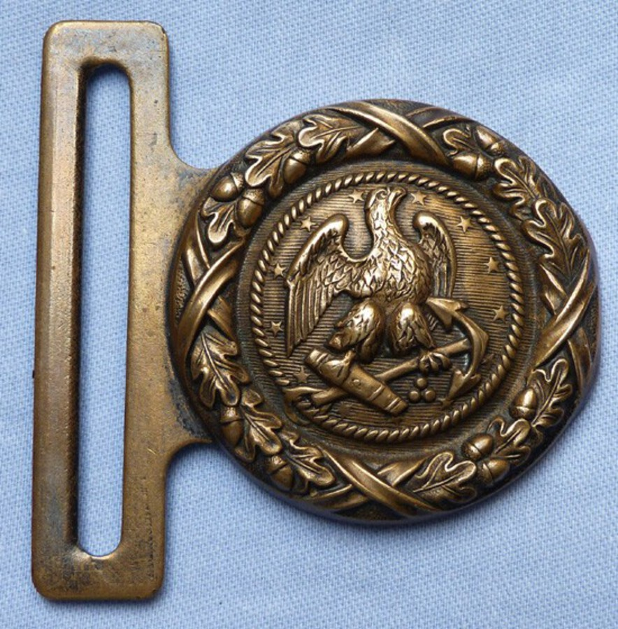 Antique Original 19th Century Civil War Era US Navy officer's Belt Buckle