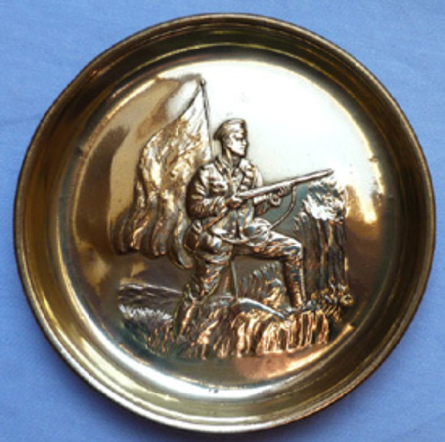 WW1 British Brass Patriotic Dish