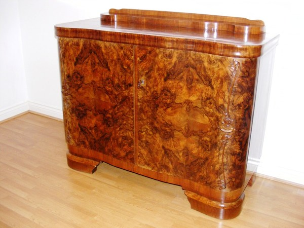 Antique Art Nouveau Walnut Sideboard