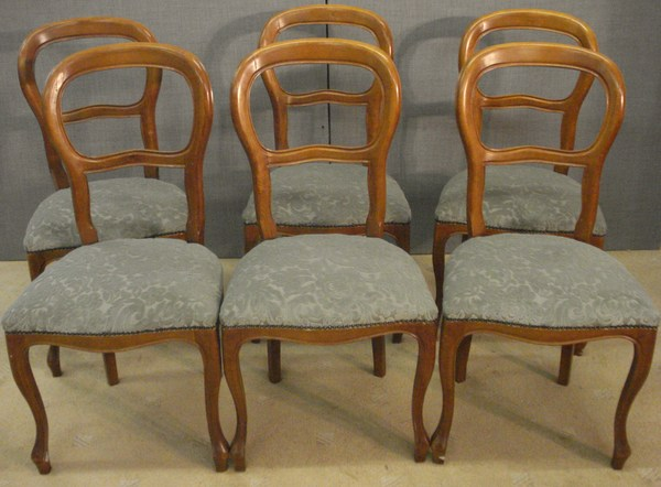 Antique BALLOON BACK CHAIRS 6  AS  362