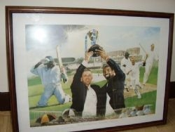 MODERN PRINT OF COUNTY CRICKET RUNNERS-UP CHAMPIONS TROPHY PRESENTATION 1998 BY F.J.SCOTT (No.93/...