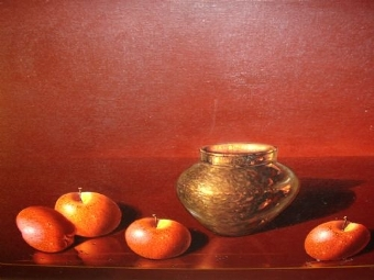 Antique ORIGINAL LUCIANO GUARNIERI STILL LIFE FRUIT STUDY TITLED