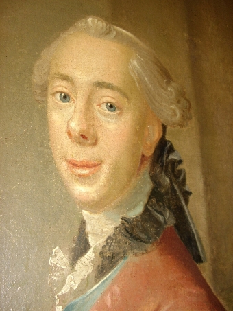 Antique OIL PORTRAIT PAINTING OF A DANISH NOBLEMAN BY ARTIST JOHAN HORNER (1711-1763) MID 18TH CENTURY EUROPEAN SCHOOL C1750 APPROX & FRAMED SIZE 56.5 X 41.5 INCHES