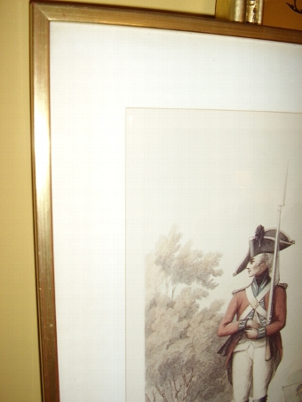 Antique 19th Centuary Chromo-Lithograph of A Foot Soldier