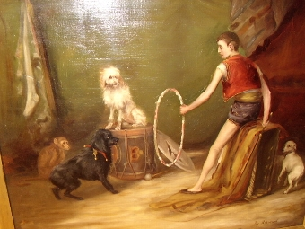 Antique OIL PAINTING ON CANVAS TITLED